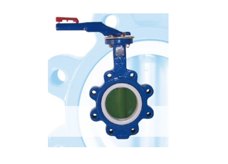 Lever Operated PTFE Coated Butterfly Valve