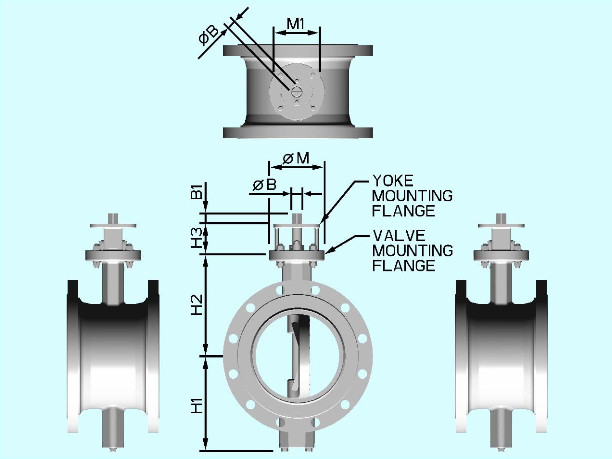 Flanged Butterfly Valve Design Diagram