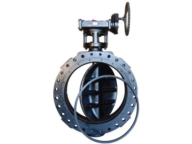 Double Flanged Industrial Butterfly Valve