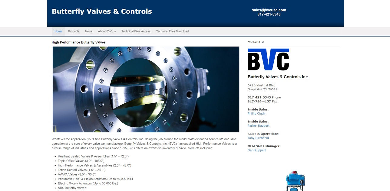 Butterfly Valves & Controls Inc.